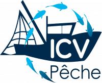 Logo ICV Pêche - Large, Blanc